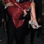Christian Louboutin carries Blake Lively in his arms