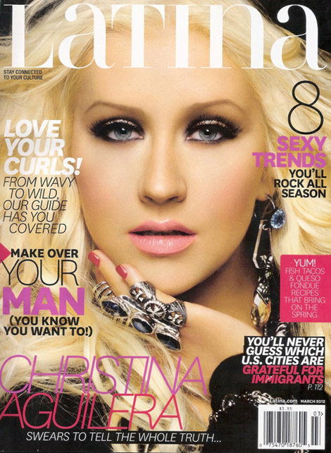 Christina Aguilera Covers Latina March 2012 In McQueen