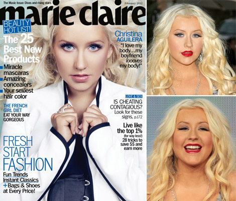 Christina Aguilera Marie Claire February 2012 cover