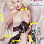 Christina Aguilera new perfume ad campaign Photoshop disaster