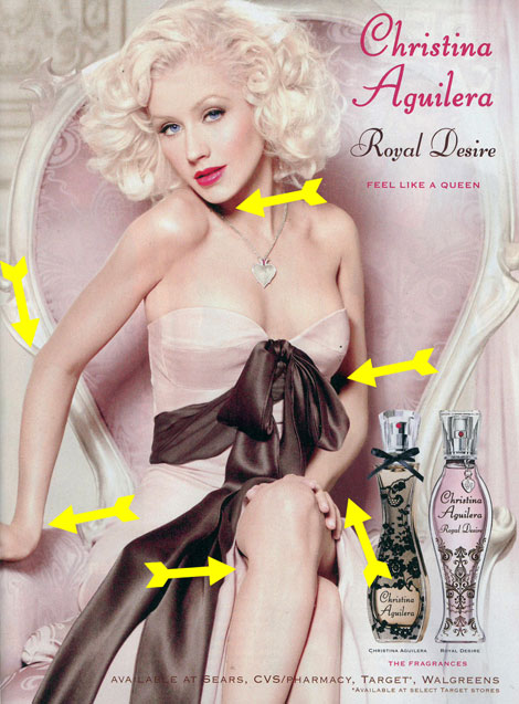 Christina Aguilera New Perfume Ad Campaign, Same Ol' Photoshop Disaster Trick