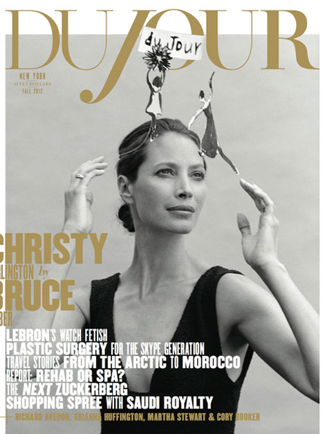Christy Turlington DuJour September 2012 cover