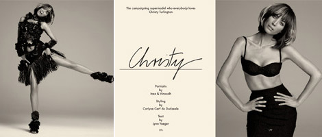 Christy Turlington Gentlewoman Spring 2012 preview