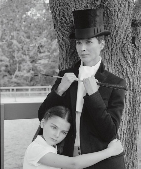 Christy Turlington with daughter Grace Burns