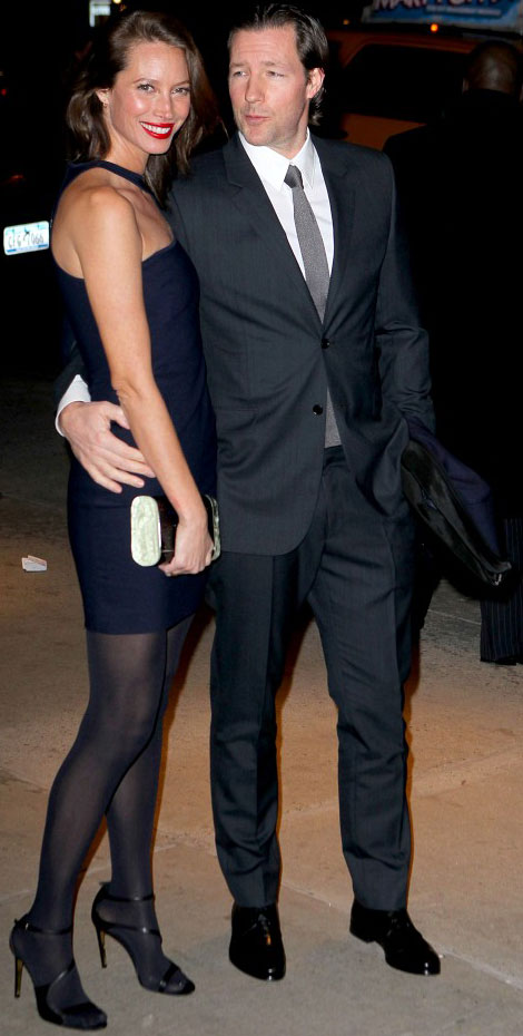 Christy Turlington with Husband Edward Burns night out