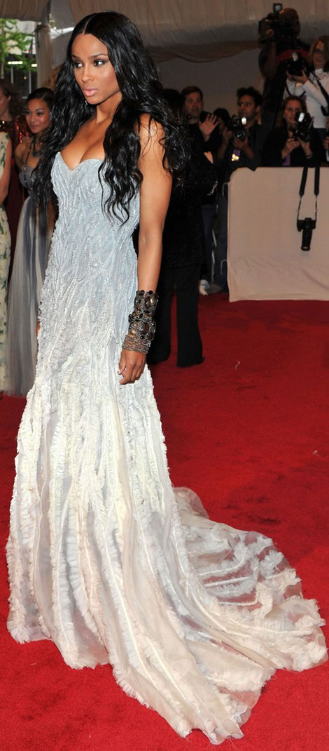 Ciara's Sleeveless Prabal Gurung Dress For Met Gala 2011