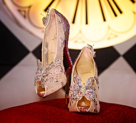 Louboutin's Cinderella Slippers: Sparkles And Butterflies