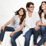 Cindy Crawford with mother and daughter ad campaign