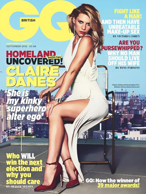 Claire Danes GQ UK September 2012 cover