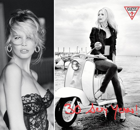 Claudia Schiffer's 30 Sexy Years For Guess