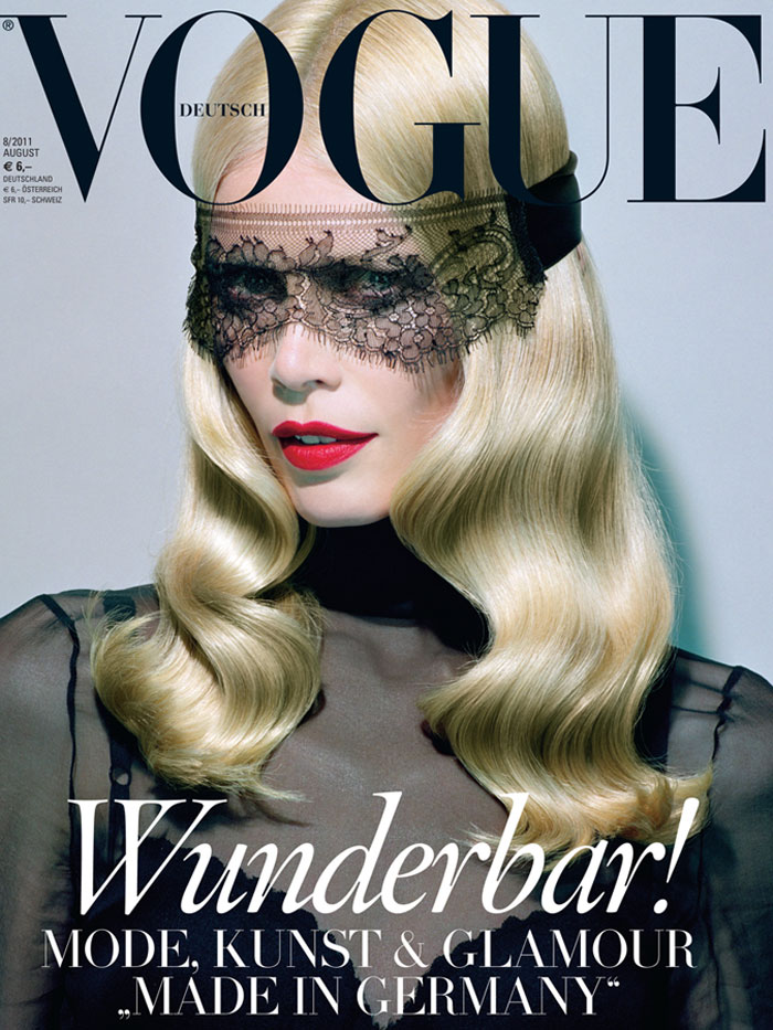 Claudia Schiffer's Vogue Germany August 2011
