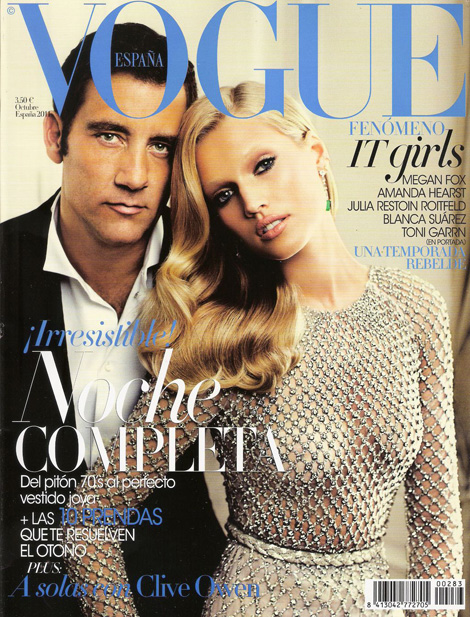 Clive Owen Toni Garn Vogue Spain October 2011 cover