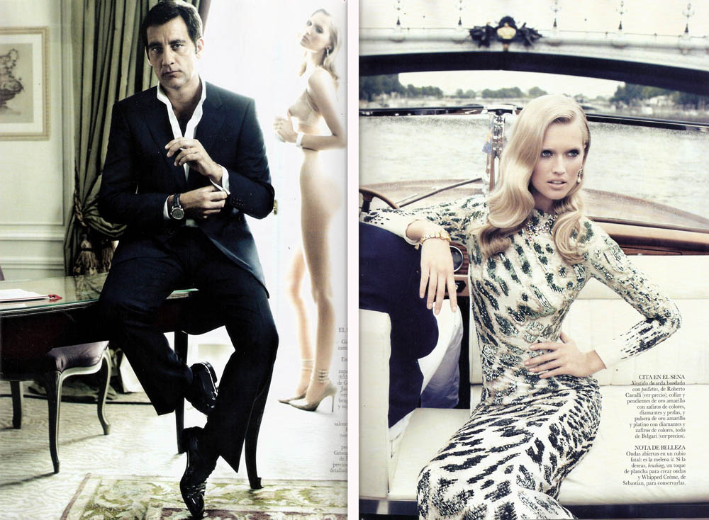 Clive Owen Toni Garn photographed for Vogue