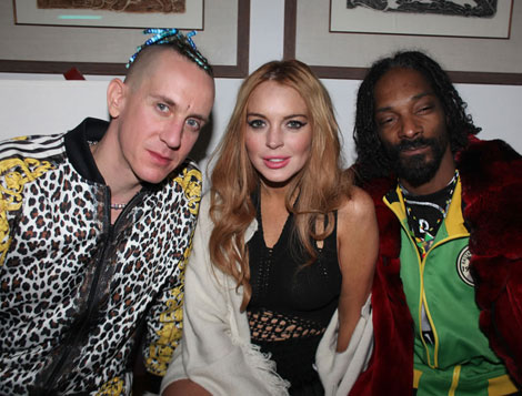 Coachella fun Jeremy Scott Lindsay Lohan Snoop