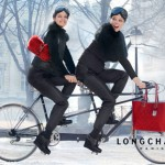 Coco Rocha bike fun for Longchamp