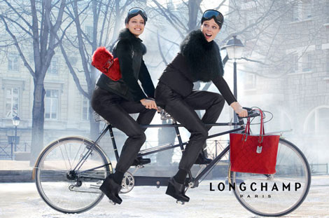 Coco Rocha, Emily Didonato Having Fun In Longchamp Fall 2012 Ad Campaign