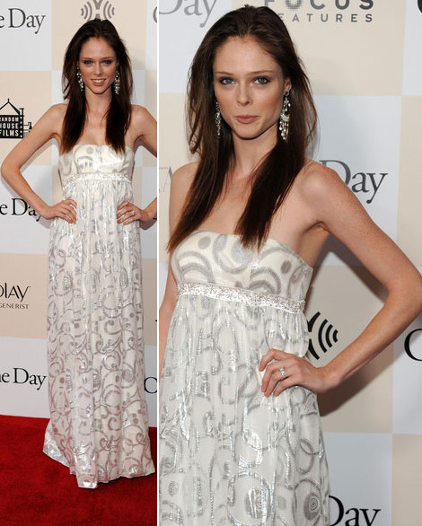 Coco Rocha white strapless maxi dress Red Carpet