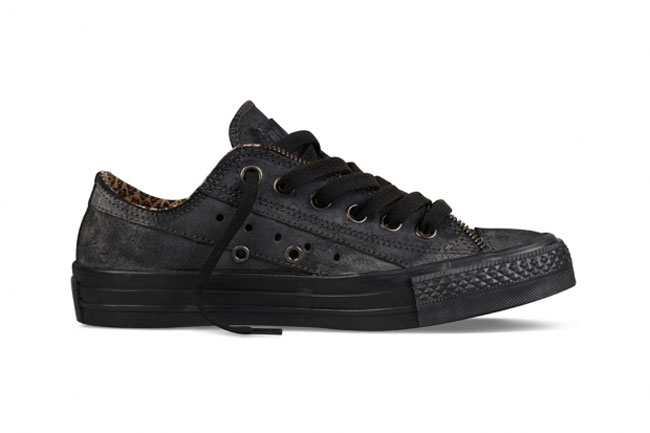 Converse black Moto leather sneakers