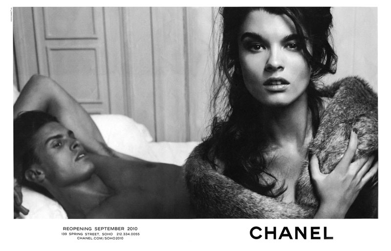 Crystal Renn And Baptiste For Chanel Reopening September 2010