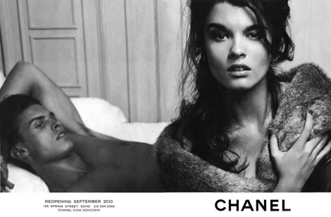 Crystal Renn Baptiste Giabiconi Chanel reopening ad