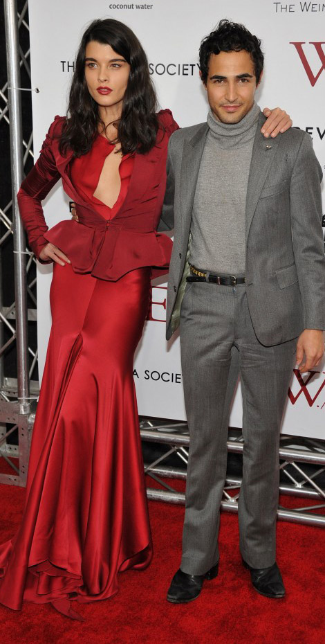 Crystal Renn Zac Posen red dress WE screening