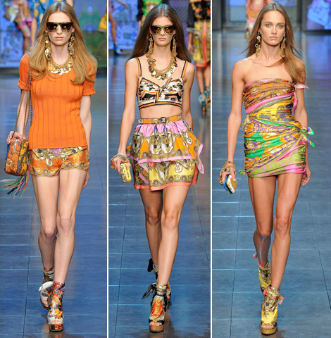 D and G mini dresses short pants summer 2012