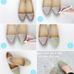 DIY old shoes into new by adding neon details