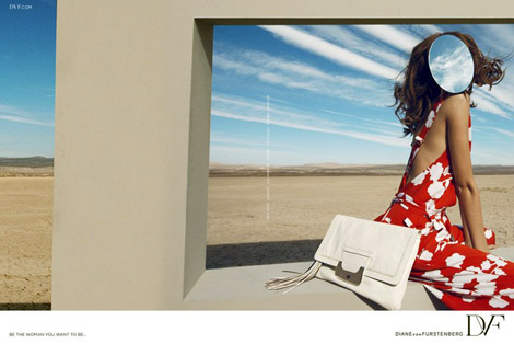 Diane Von Furstenberg's Mirrored New Ad Campaign. Feelings?