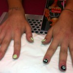 Daisies and letters manicure Peaches Geldof