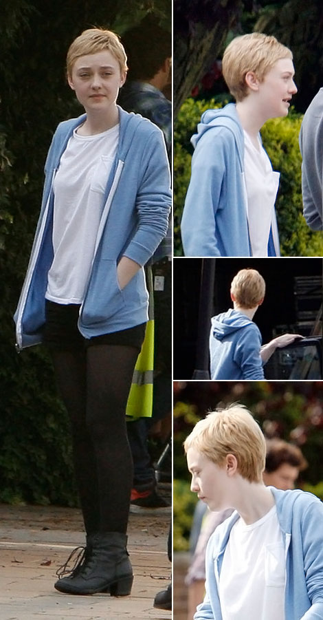 Dakota Fanning new short haircut