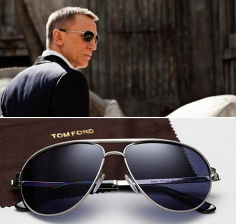 4726ce6dba0f6 Daniel Craig s James Bond Wears Tom Ford Sunglasses In Skyfall ...