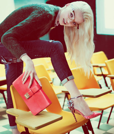 Daphne Groeneveld DSquared2 Fall 2012 campaign Back To School Fashion: DSquared2 Fall Winter 2012 2013 Ad Campaign