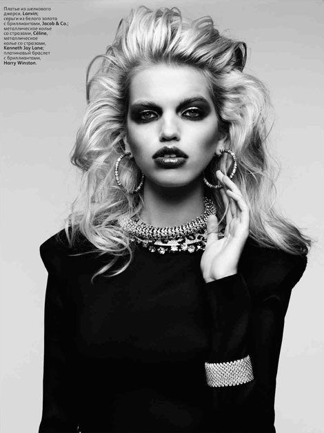 Daphne Groeneveld Vogue Russia April 2012 by Hedi Slimane