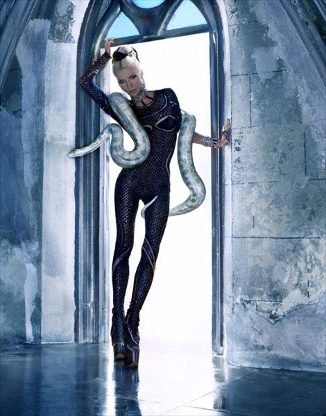 Daphne Guinness McQueen Tribute Lady White Snake