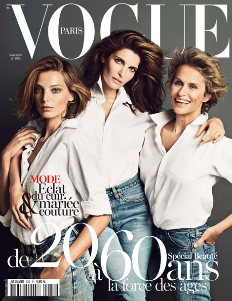 Daria Werbowy, Stephanie Seymour, Lauren Hutton: Vogue Paris November 2012