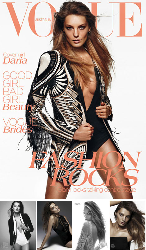 Daria Werbowy's Vogue Australia June 2012. Beautiful, Always The Same