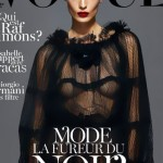 Daria Werbowy covers Vogue Paris September 2012 in black Dolce dress