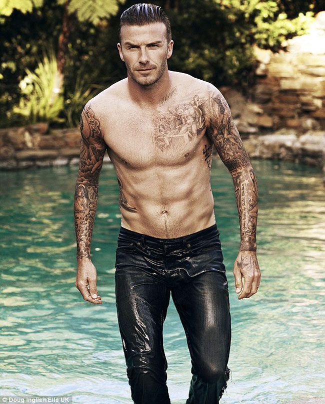 David Beckham Elle UK Magazine July 2012