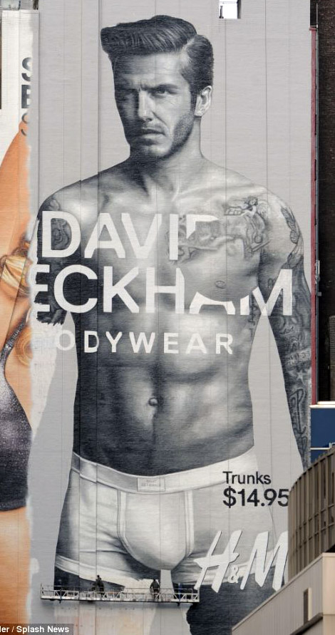 Giant Poster With David Beckham's Body… Wear