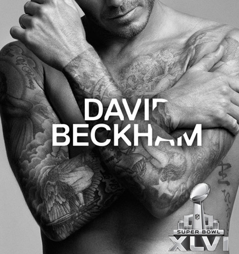 David Beckham's Underwear At The Super Bowl. Courtesy H & M