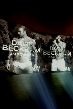 David Beckham s Underwear projection