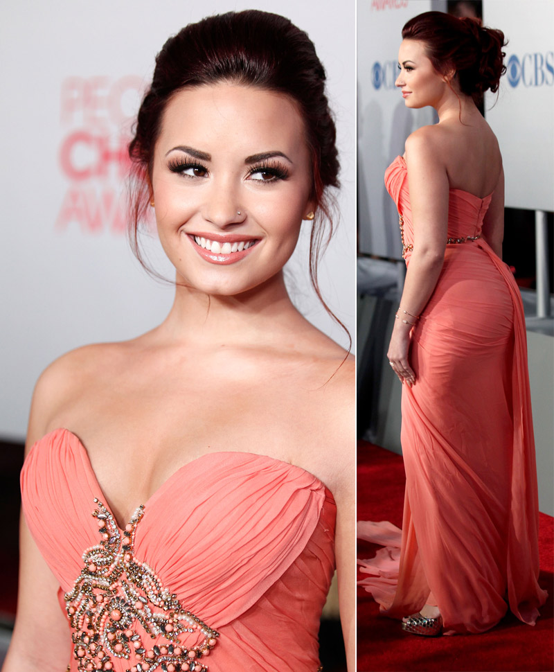 Demi Lovato s Marchesa dress People s Choice Awards