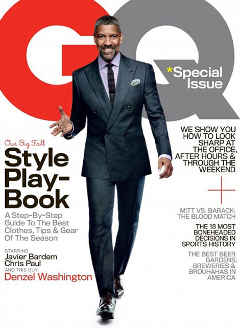 Denzel Washington GQ October 2012 cover