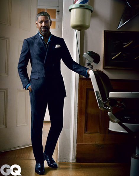 GQ Puts The Outstanding Denzel Washington On The October 2012 Cover