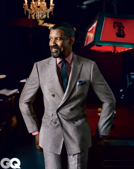 Denzel Washington suits up for GQ