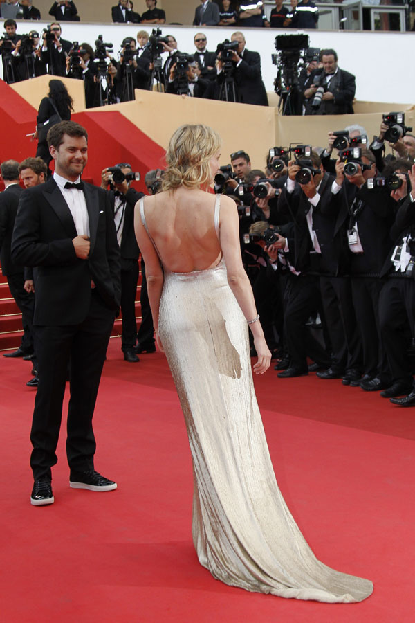 Diane Kruger  Calvin Klein golden dress Cannes 2011 2