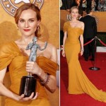 Diane Kruger Jason Wu mustard dress SAG 2010