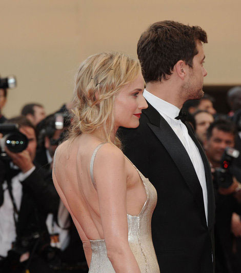 Diane Kruger golden dress Cannes 2011 Joshua Jackson
