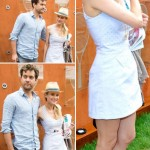 Diane Kruger mini dress Converse sneakers with Joshua Jackson French Open