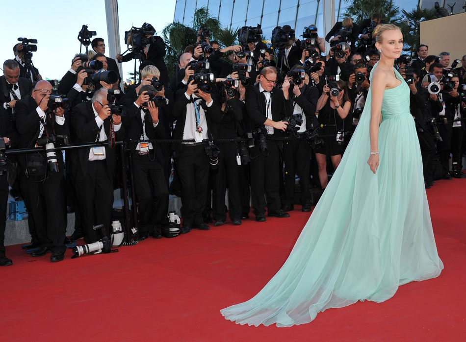 Diane Kruger s aqua dress Cannes 2012 Red Carpet